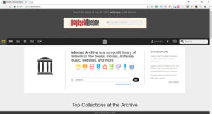 archive.org internet library screenshot