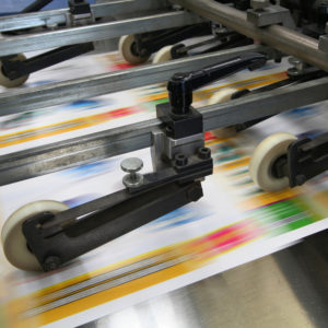 offset printing machine printing posters