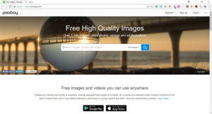 screenshot pixabay website photo resource