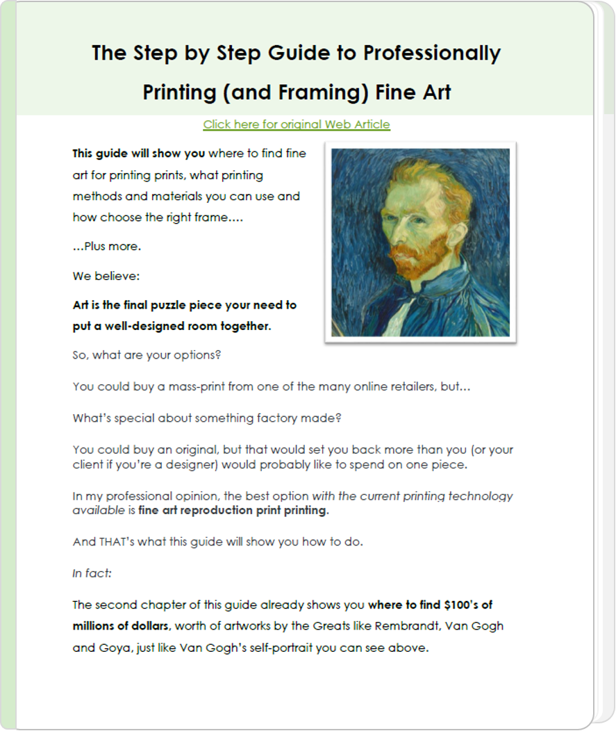 The Step by Step Guide to Professional Fine Art Printing & Framing